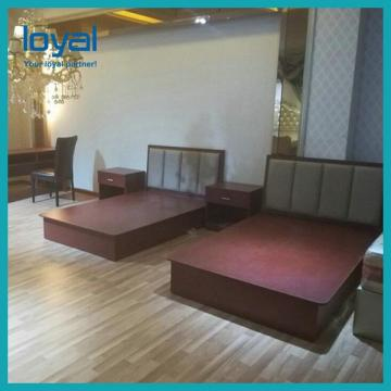 Economical 3 Star Hotel Furniture Walnut Teak Mahogany Wood Veneer