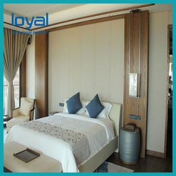 Single Room Luxury Hotel Bedroom Furniture Solid Wood Movable Design