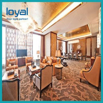 Customized Luxury Hotel Bedroom Furniture with Wood Veneer and Lacquer Surface