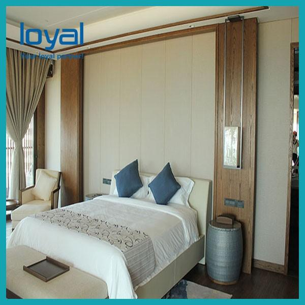 American Style Laminate Oak Wood Luxury Hotel Bedroom Furniture For Four Point Sheration Hotel #2 image