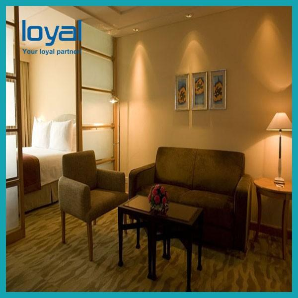 American Style Laminate Oak Wood Luxury Hotel Bedroom Furniture For Four Point Sheration Hotel #3 image