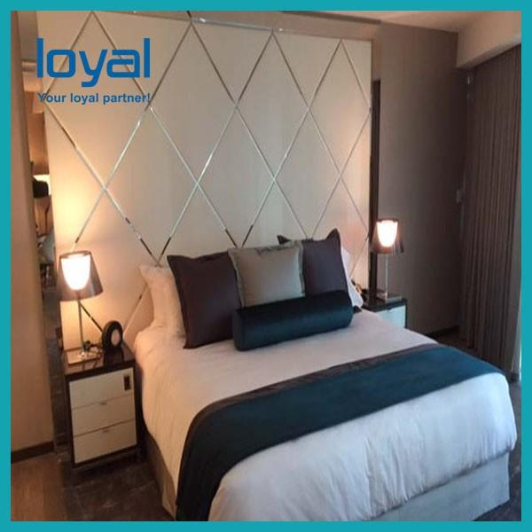 American Style Laminate Oak Wood Luxury Hotel Bedroom Furniture For Four Point Sheration Hotel #4 image