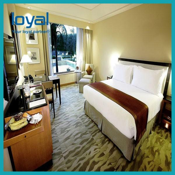 American Style Laminate Oak Wood Luxury Hotel Bedroom Furniture For Four Point Sheration Hotel #5 image