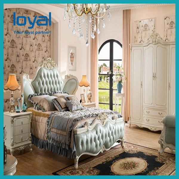 Antique Style Gold Luxury 5 Stars Hotel Bedroom /Room Furniture #3 image