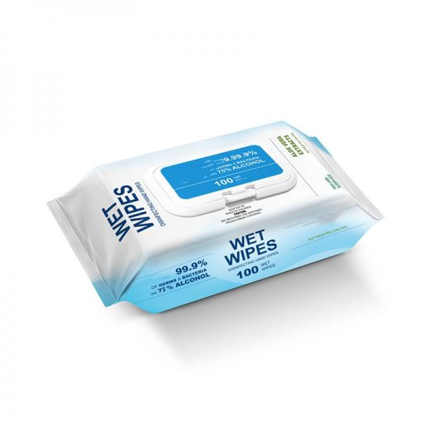 Alibaba select 50pcs in bag 75% Alcohol Wipes Disinfectant Wipes for US/EU market(64bag/carton) #3 image