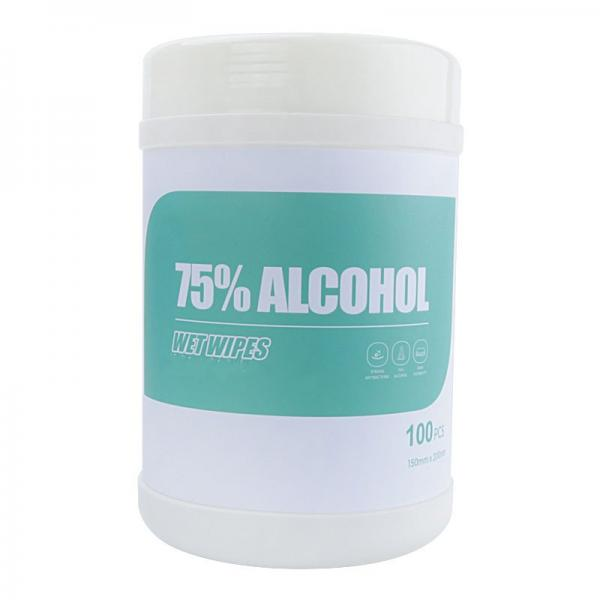 100ct 70% Alcohol Wipes in Canister #3 image